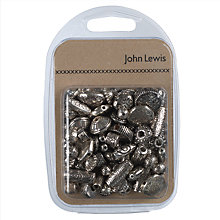 Buy John Lewis Plastic Beads Mix, 50g, Metallic Online at johnlewis.com