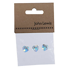 Buy John Lewis Swarovski 10mm Heart Crystals, Pack of 3, Crystal AB Online at johnlewis.com
