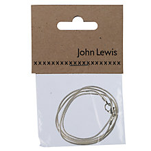Buy John Lewis Snake Chain, 45.5cm, Silver Plated Online at johnlewis.com