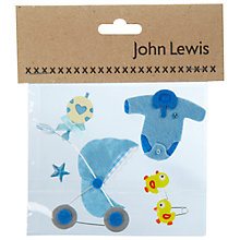 Buy New Born Baby Card Toppers, Blue Online at johnlewis.com