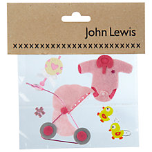Buy New Born Baby Card Toppers, Pink Online at johnlewis.com