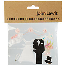 Buy Bride and Groom Card Toppers Online at johnlewis.com
