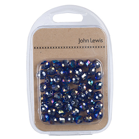 Buy John Lewis Faceted Glass Beads, Pack of 55, Purple Online at johnlewis.com