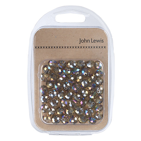 Buy John Lewis Faceted Glass Beads, Pack of 55 Online at johnlewis.com