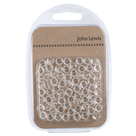 Buy John Lewis Faceted Glass Beads, Pack of 72, Clear Online at johnlewis.com