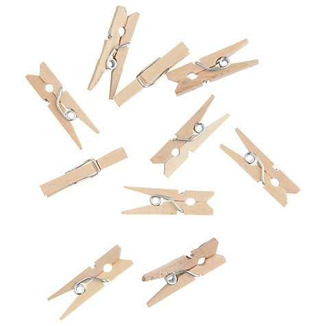 Buy John Lewis 25mm Clothes Pegs, Pack of 45 Online at johnlewis.com