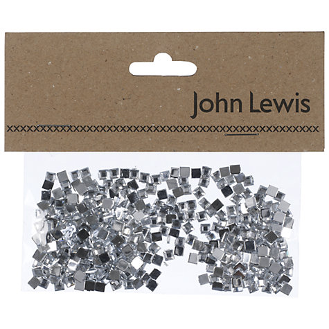 Buy John Lewis Square Gems, Silver Online at johnlewis.com