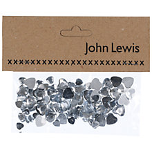 Buy John Lewis Mirrored Hearts, Small, Pack of 100 Online at johnlewis.com