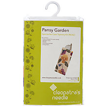 Buy Cleopatra's Needle Pansy Garden Spectacles Case Tapestry Kit Online at johnlewis.com