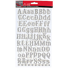 Buy Glitter Alphabets & Numbers, Silver Online at johnlewis.com