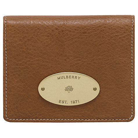Buy Mulberry Leather ID Purse Online at johnlewis.com