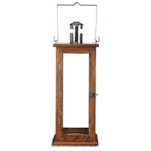 Buy John Lewis Wooden Lantern, Large Online at johnlewis.com