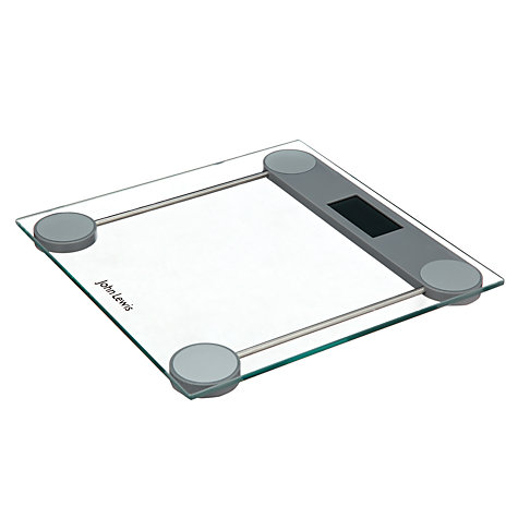 Buy John Lewis Digital Bathroom Scale, Glass, Clear Online at johnlewis.com