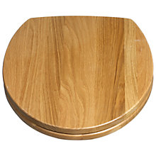 Buy John Lewis FSC Solid Oak Toilet Seat Online at johnlewis.com