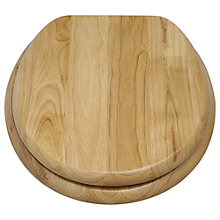 Buy John Lewis Rubberwood Toilet Seat, Natural Online at johnlewis.com