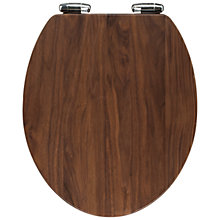 Buy John Lewis Solid Walnut Toilet Seat Online at johnlewis.com