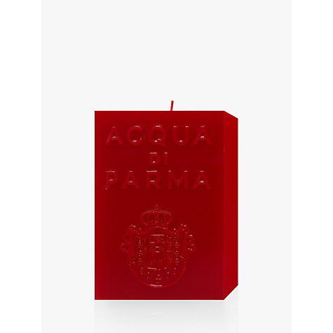Buy Acqua di Parma Large Red Cube Candle - Spicy, 1000g Online at johnlewis.com