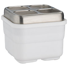 Buy John Lewis Dual Sink Caddy / Cutlery Drainer, White Online at johnlewis.com