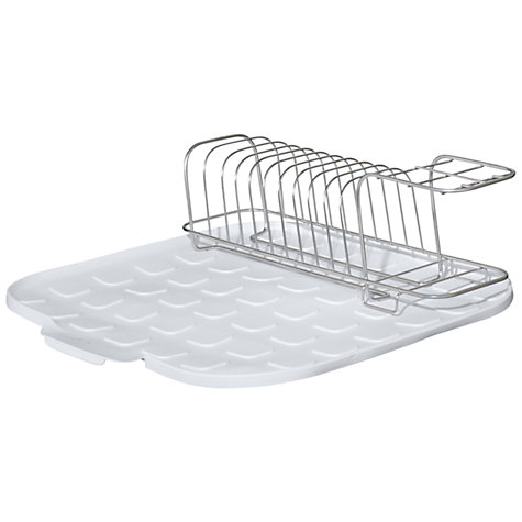 Buy John Lewis Dish Drainer and Mat, White Online at johnlewis.com