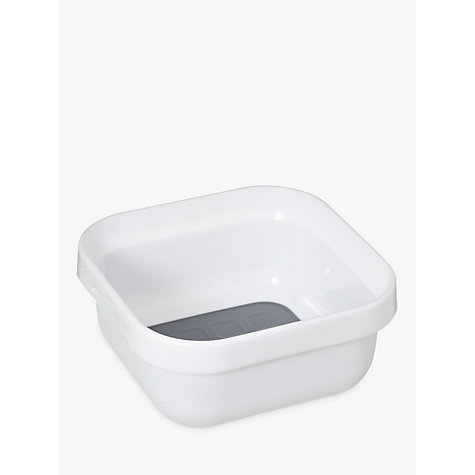 Buy John Lewis Washing-Up Bowl, White / Grey Online at johnlewis.com