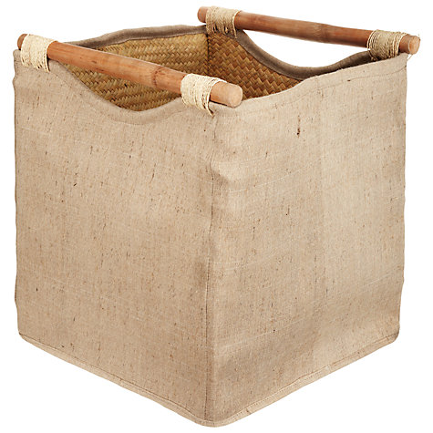 Buy John Lewis Jute/Pandan Square Storage Baskets, Set of 2 Online at johnlewis.com