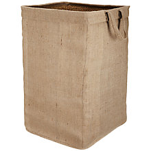 Buy John Lewis Jute/Pandan Square Laundry Basket, Beige Online at johnlewis.com