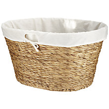 Buy John Lewis Twisted Water Hyacinth Oval Laundry Basket Online at johnlewis.com