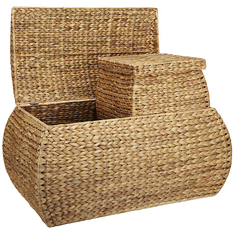 Buy John Lewis Water Hyacinth Trunk and 2 Baskets Set Online at johnlewis.com