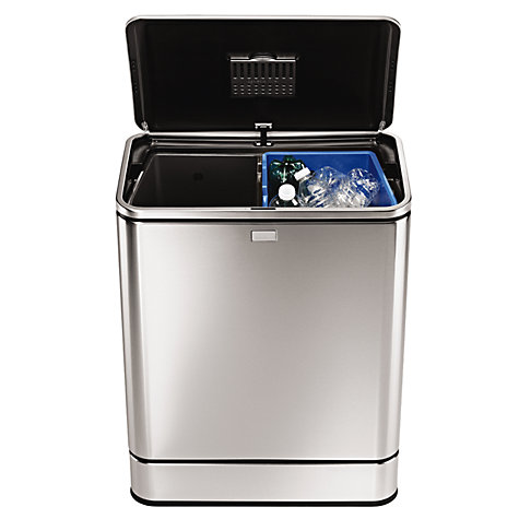 Buy simplehuman Sensor Recycle Bin, 48L Online at johnlewis.com