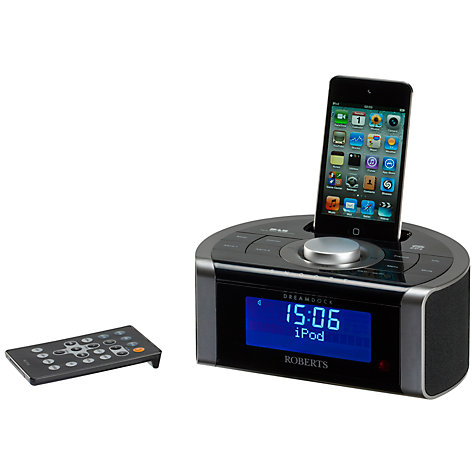 Buy ROBERTS DREAMDOCK DAB/FM Digital Clock Radio with iPod Dock Online at johnlewis.com