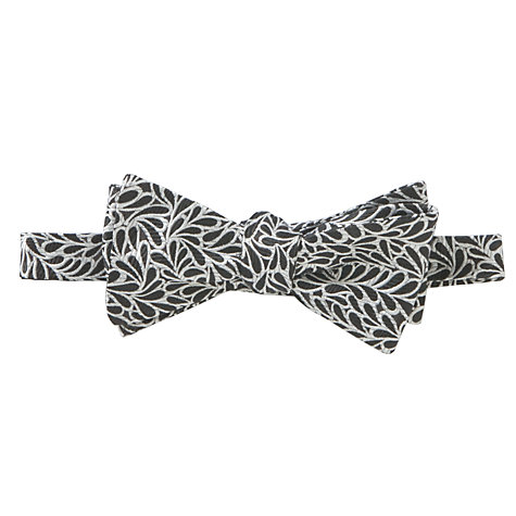Buy Penrose London Hickory Bow Tie, Black/White Online at johnlewis.com