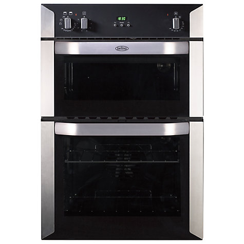 Buy Belling BI90FP Electric Double Oven, Stainless Steel Online at johnlewis.com