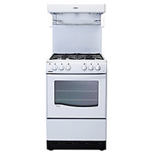 Buy New World 55THLG Gas Cooker, White Online at johnlewis.com