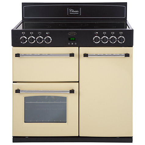 Buy Belling Classic 90E Electric Range Cooker, Cream Online at johnlewis.com