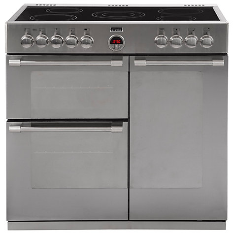Buy Stoves Sterling 900E Electric Range Cooker, Stainless Steel Online at johnlewis.com