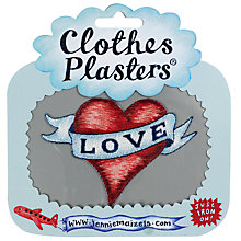 Buy Jennie Maizels Clothes Plasters, Love, Pack of 1 Online at johnlewis.com
