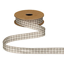 Buy East of India Grey Gingham Ribbon, 3m Online at johnlewis.com