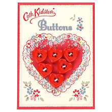 Buy Cath Kidston Valentine Hearts Button Card, Pack of 6 Online at johnlewis.com