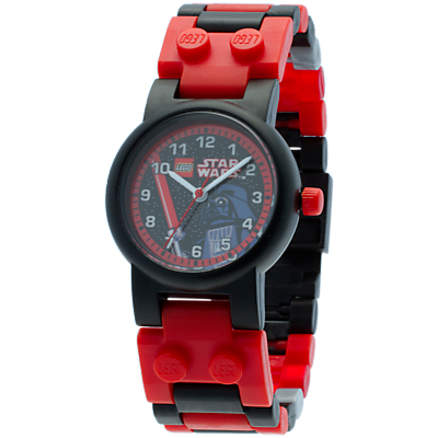 LEGO Star Wars Darth Vader Watch, Red/Black