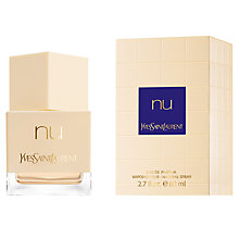 Buy Yves Saint Laurent Nu Eau de Toilette Spray, 80ml Online at johnlewis.com