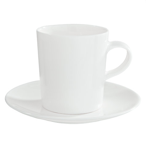 Buy John Lewis Concave Bone China Espresso Cups and Saucers, Set of 4 Online at johnlewis.com