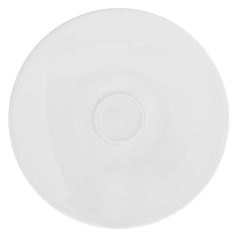 Buy Queensberry Hunt for John Lewis Cuisine Cups and Saucers, Set of 4, 0.3L, White Online at johnlewis.com