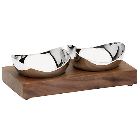 Buy Robert Welch Drift/Rushan Pinch Pot Bowls with Walnut Stand, Set of 2 Online at johnlewis.com