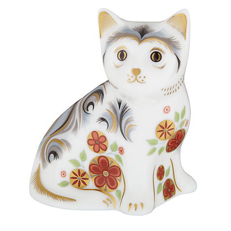 Buy Royal Crown Derby Nice Kitten Paperweight Online at johnlewis.com