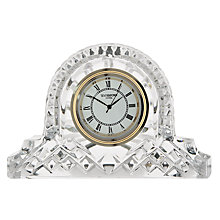 Buy Waterford Crystal Lismore Mantle Clock, Small Online at johnlewis.com