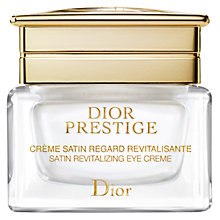 Buy Dior Prestige Satin Revitalizing Eye Creme, 15ml Online at johnlewis.com
