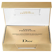 Buy Dior Prestige Satin Revitalizing Firming Mask, 6 Masks Online at johnlewis.com