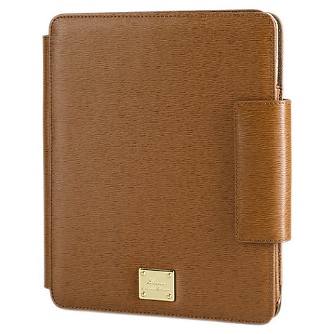 Buy Lauren by Ralph Lauren Newbury Leather Media Case, Tan Online at johnlewis.com