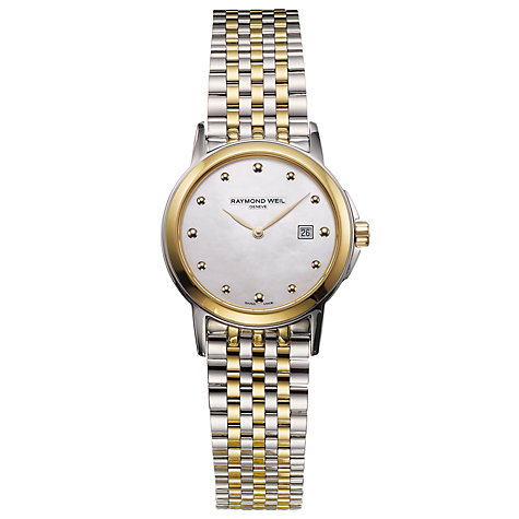 Buy Raymond Weil 5966-STP-97001 Women's Tradition Mother of Pearl Dial Stainless Bracelet Watch, Gold Online at johnlewis.com