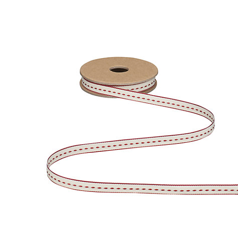Buy East of India Thin Stitch Ribbon, 3m, Red Online at johnlewis.com